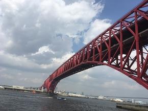 大阪港の赤いシンボル「港大橋」に行ってきました!