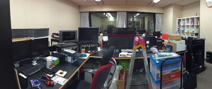 編集スタジオ工事の様子